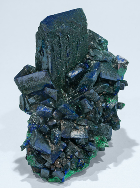 Malachite after Azurite with Malachite. Side