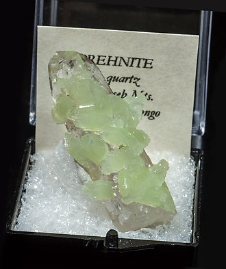 Prehnite with Quartz.