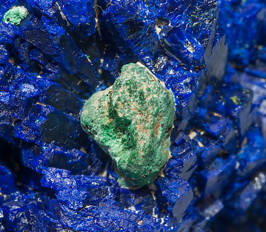 Azurite with Malachite after Cuprite.