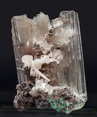 Cerussite with Malachite. Rear