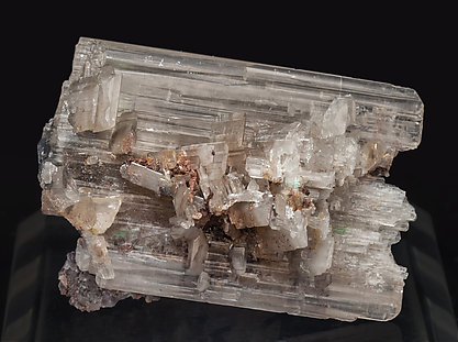 Cerussite with Malachite. Side