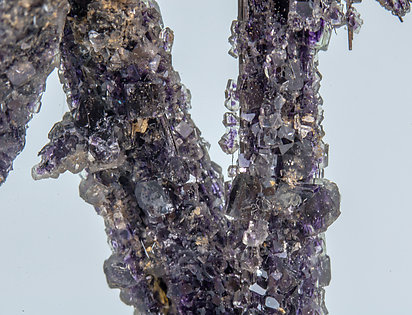 Cosalite with Fluorite.