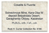 Cosalite with Fluorite