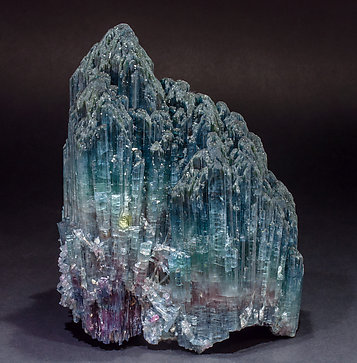 Elbaite (variety indicolite) with Quartz.