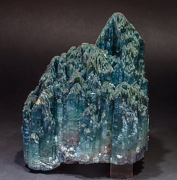 Elbaite (variety indicolite) with Quartz. Rear with day light