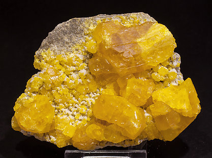 Sulphur with Calcite.