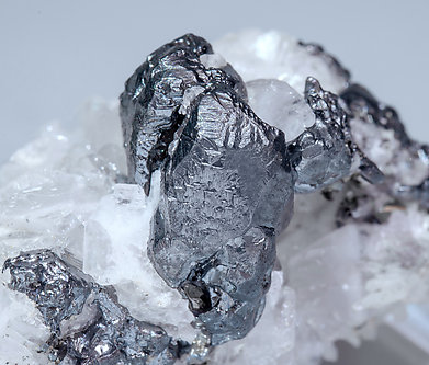 Acanthite with Calcite.