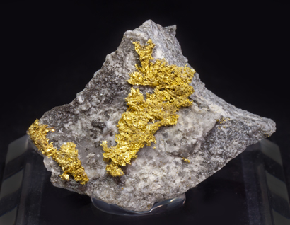 Gold with Quartz and Sphalerite.