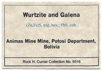 Wurtzite with Galena