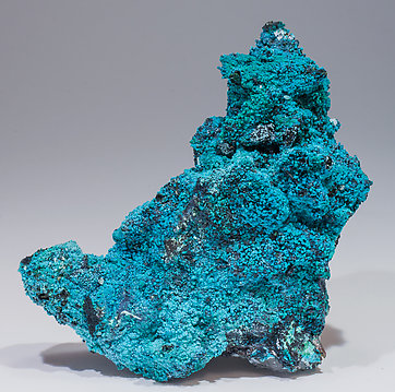 Chrysocolla on Quartz. Rear