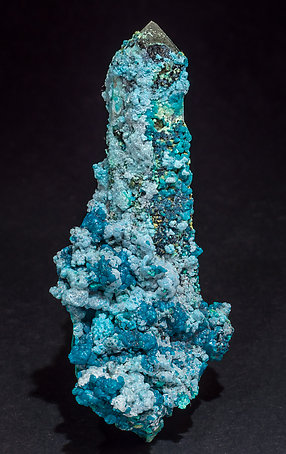 Chrysocolla on Quartz.