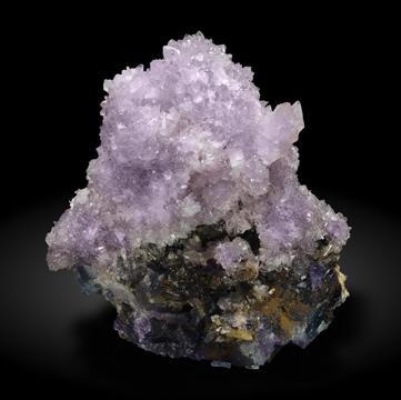 Creedite with Fluorite. Rear / Photo: Joaquim Callén