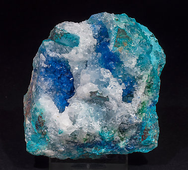 Shattuckite with Quartz and Chrysocolla. Front