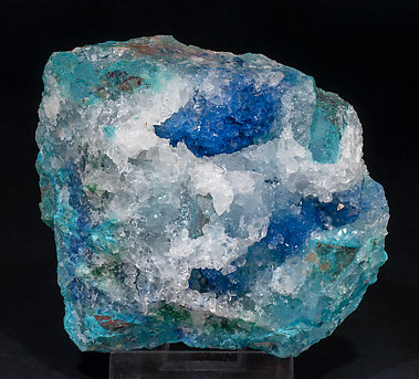 Shattuckite with Quartz and Chrysocolla. Side