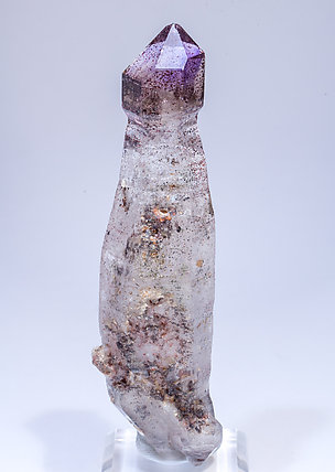 Quartz scepter (variety amethyst). Rear