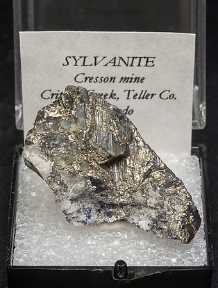 Sylvanite with Quartz.