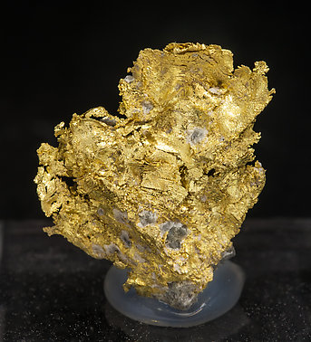 Gold (variety electrum). Front