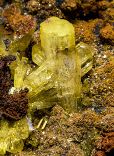 Legrandite with limonite.