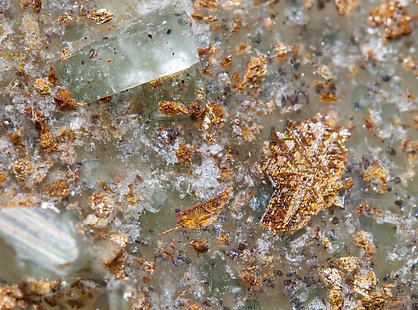 Ba-rich Microcline (variety hyalophane) with Rutile inclusions.