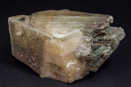 Ba-rich Microcline (variety hyalophane) with Rutile inclusions. Side
