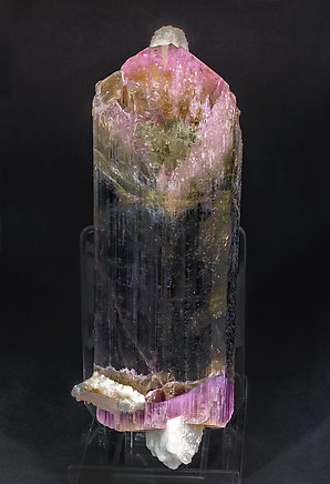 Elbaite with Feldspar and Quartz. Front