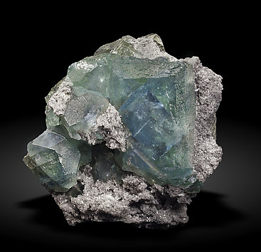 Fluorite with Quartz. Front / Photo: Joaquim Callén