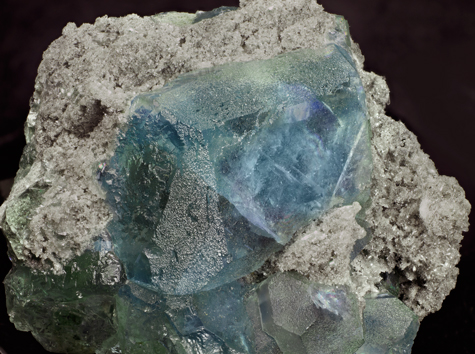 Fluorite with Quartz. Detail / Photo: Joaquim Callén