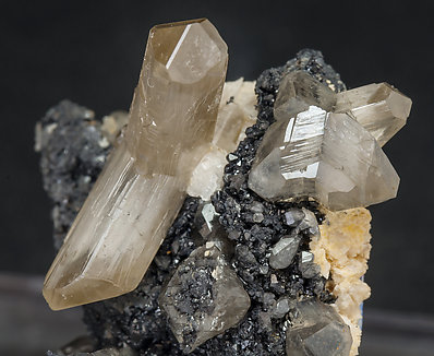 Cerussite with Galena and Dolomite.