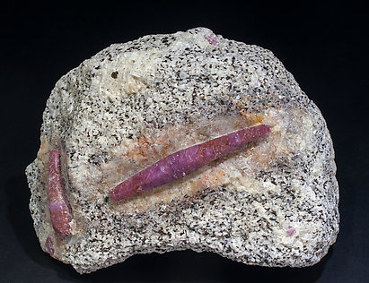 Corundum with Calcite. Front