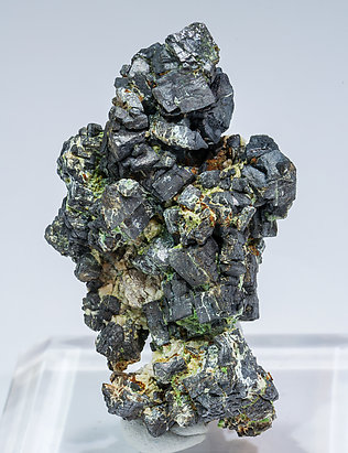 Ullmannite (As-bearing) with Calcite. Front