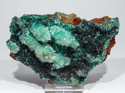 Aurichalcite with Calcite and Murdochite. Side
