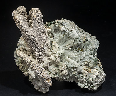 Calcite (variety kanonenspat) with Prehnite.