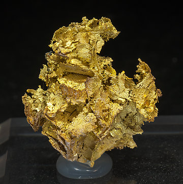 Oro (variedad electrum). Vista frontal