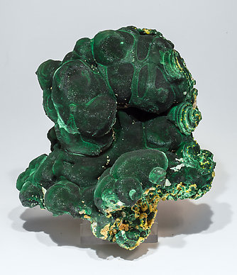 Malachite with Pyromorphite and Cerussite. Front