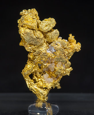Gold with Quartz. Front