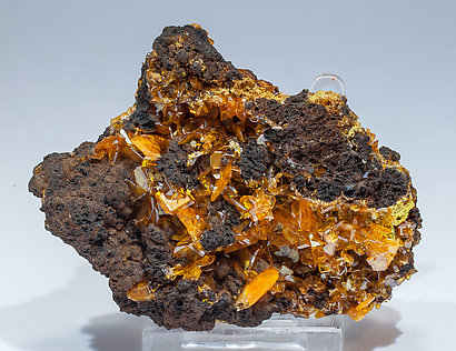 Wulfenite with Mimetite. Rear