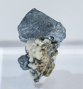 Acanthite with Dolomite and Pyrite. Rear