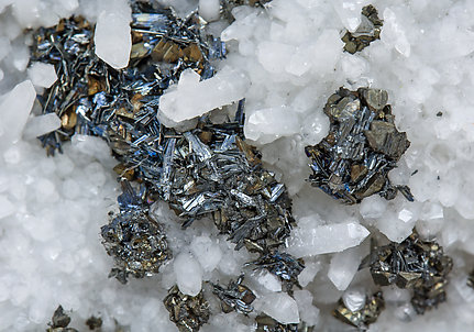 Chalcostibite with Tetrahedrite and Quartz.