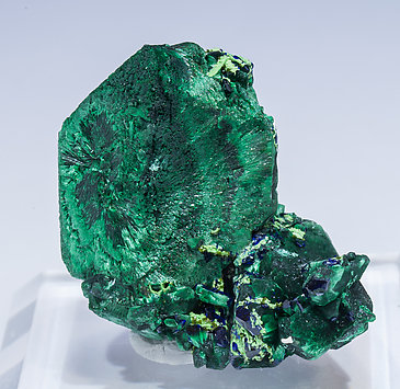 Malachite after Azurite with Azurite. Front