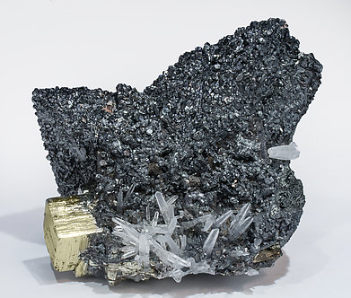 Tennantite-(Fe) with Bournonite, Pyrite and Quatrz.
