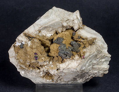 Chalcopyrite with Gypsum, Dolomite and Calcite.