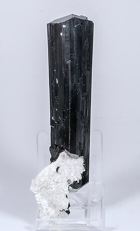 Schorl with Feldspar and Opal. Rear