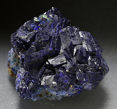 Azurite, Malachite after Cuprite.