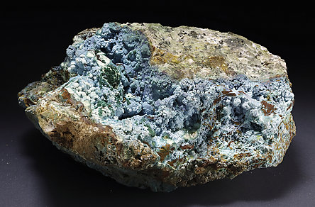 Chrysocolla, Malachite.