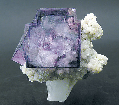 Fluorite on Mica and Quartz.