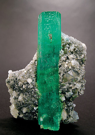 Beryl (variety emerald) doubly terminated.