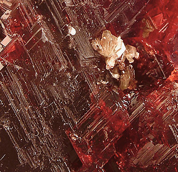 Spessartine with Albite.