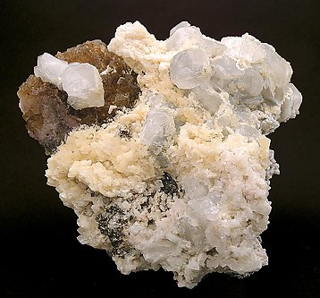 Baryte with Calcite and Fluorite.