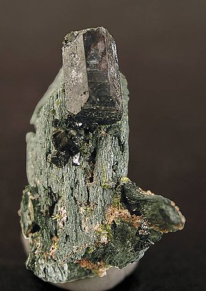 Allanite (Group) on Hedenbergite.