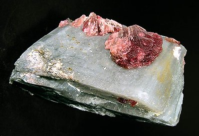 Elbaite (variety rubellite) on Calcite.